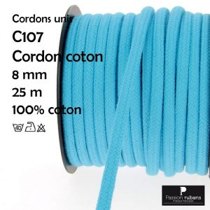 Bobine 25 m Cordon coton 8 mm