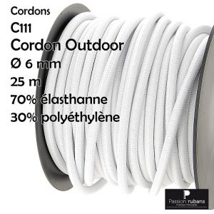 Bobine 25 m Cordon outdoor 6 mm