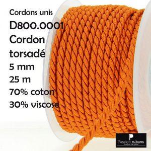 Bobine 25 m Cordon torsadé 5 mm