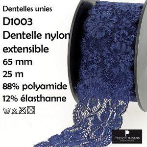 Bobine 25 m Dentelle nylon extensible 65 mm