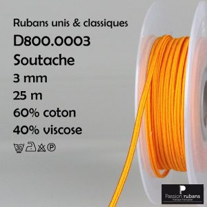 Bobine 25 m - Soutache - 3 mm
