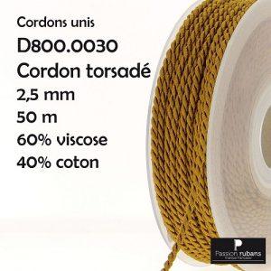 Bobine 50 m Cordon torsadé 2,5 mm