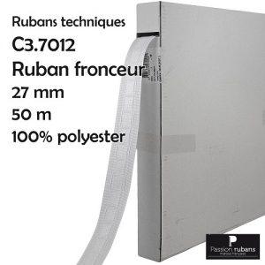 Boîte 50 m ruban fronceur 27 mm