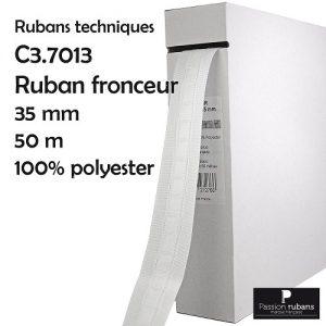 Boîte 50 m ruban fronceur 35 mm