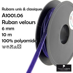 Disquette 10 m Ruban velours 6 mm