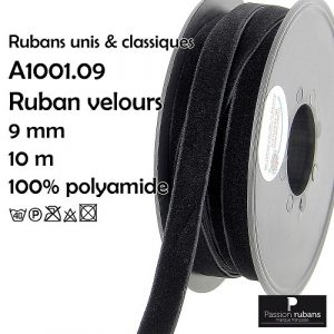Disquette 10 m Ruban velours 9 mm