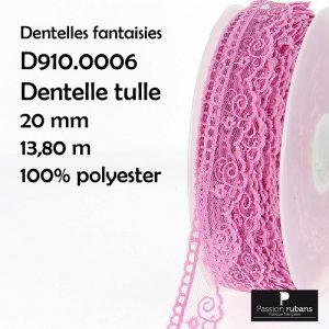 Disquette 13.80 m dentelle tulle 20 mm