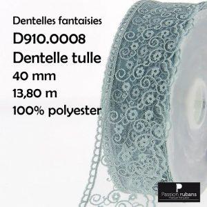Disquette 13.80 m dentelle tulle 40 mm