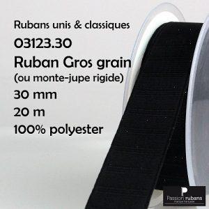 Disquette 20 m Gros grain 30 mm