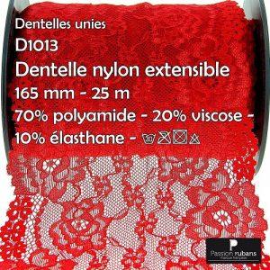 Disquette 25 m Dentelle nylon extensible 165 mm