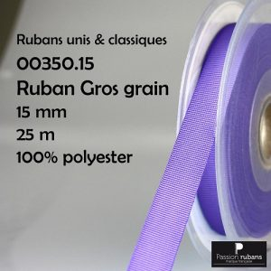 Disquette 25 m Gros grain 15 mm