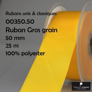 Disquette 25 m Gros grain 50 mm