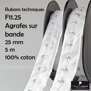 Disquette 5 m Agrafes sur bande 25 mm