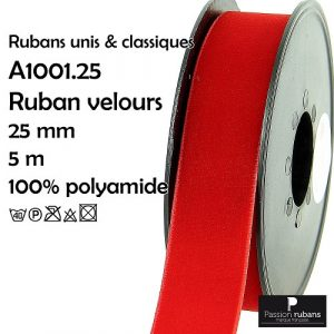 Disquette 5 m Ruban velours 25 mm