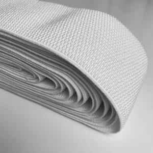 Ruban élastique alvéolaire 10 cm, blanc