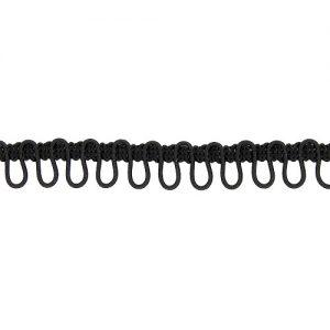 Boutonnière élastique 17 mm NOIR