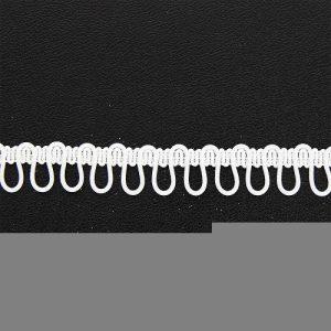 Boutonnière élastique 17 mm BLANC