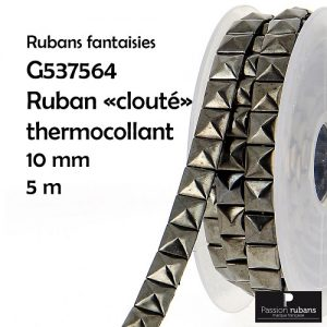"Ruban thermocollant ""clouté"" 10 mm"