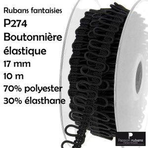 Boutonnière élastique 17 mm