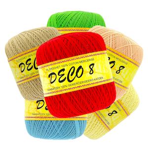Pelote de 100 gr – 100% coton à crocheter couleur DECO 8